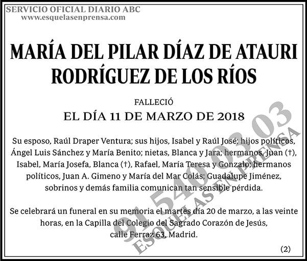 María del Pilar Díaz de Atauri Rodríguez de los Ríos